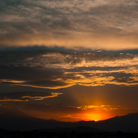 Volcanoes and sunset by Cristobal Garciaferro Rubio - Landscapes Sunsets & Sunrises