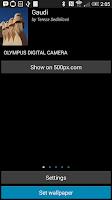 Screenshot of 500px live wallpaper