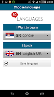 Screenshot of Learn Serbian - 50 languages