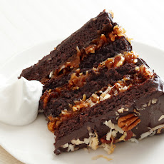 German Chocolate Cake With Coconut-Pecan Cajeta Frosting