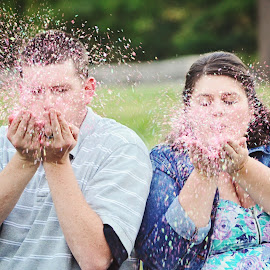It's a Girl! by Ali Reagan - People Maternity ( maternity, girl, confetti, its a girl )