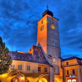 Old Tower by Mihai Popa - City,  Street & Park  Historic Districts ( romania, sibiu )
