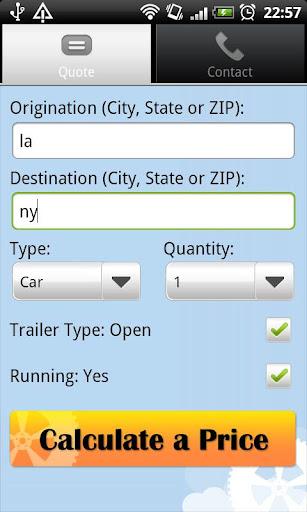 Vehicle Transport Quote