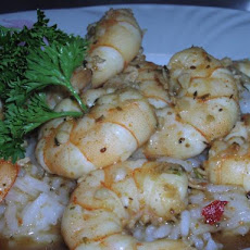 Asian/Maryland Fusion Hard Cider Shrimp