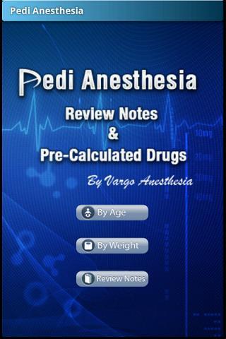 Pedi Anesthesia