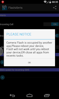 Screenshot of Flash Alerts
