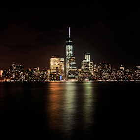 NY from Jersey City by Benoit Beauchamp - City,  Street & Park  Skylines