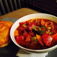Spicy Turkey Sweet Potato Gumbo