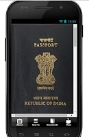 Screenshot of Indian passport application