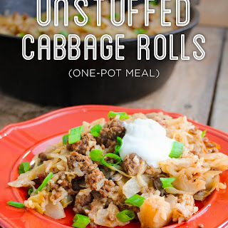 Unstuffed Cabbage Rolls | One Pot Meal