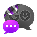 GO SMS THEME - Smooth Purple icon