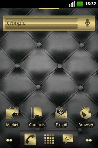 Gold and Leather ADW Theme