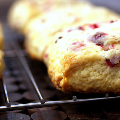Meyer Lemon Fresh Cranberry Scones