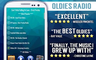 Screenshot of Free Oldies Radio