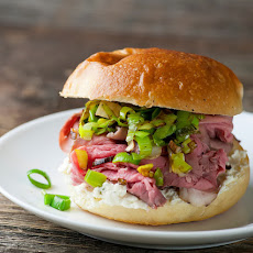 Roast Beef Sandwiches with Leeks and Boursin Cheese