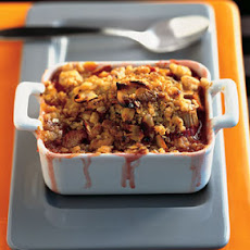 Strawberry-Rhubarb Crisps with Cardamom and Nutmeg