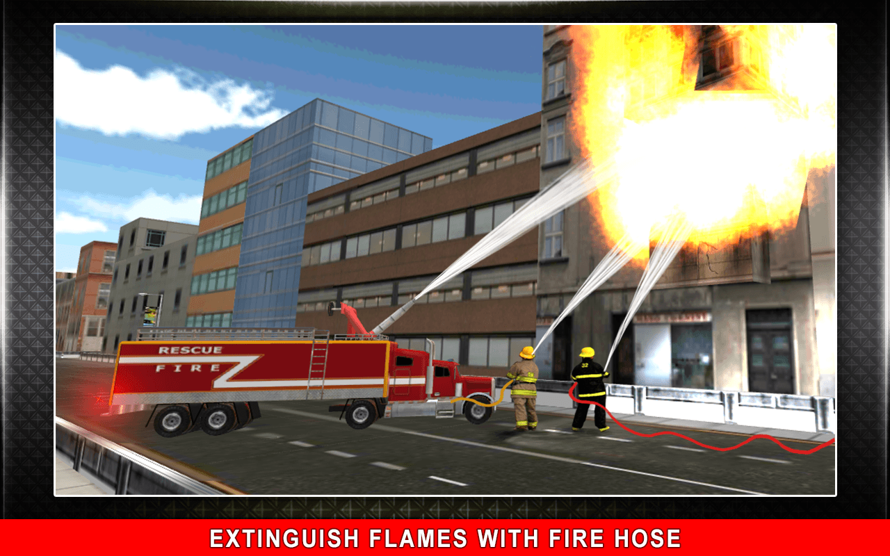 911 Rescue Fire Truck 3D Sim Screenshot 6