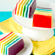 Rainbow Ribbon Jello