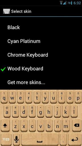 Wood Keyboard Skin