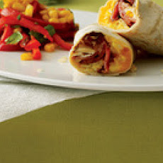 Scrambled Egg Burritos with Tex-Mex Salad