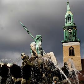 Poseidon by Brian Biggs - Buildings & Architecture Statues & Monuments ( school, greek, germany, berlin, poseidon )