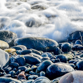 Tiny Splashes by Darren Sutherland - Nature Up Close Water ( ocean, french beach )