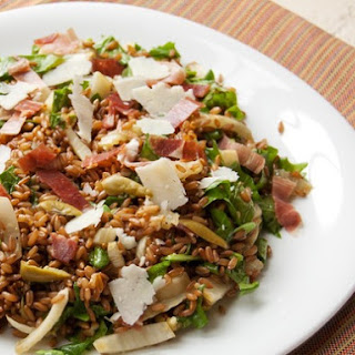 Warm Whole Grain Salad With Fennel, Arugula, Prosciutto, and Pecorino