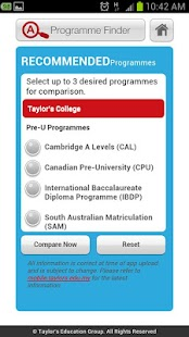 Taylor's Education Guide - screenshot