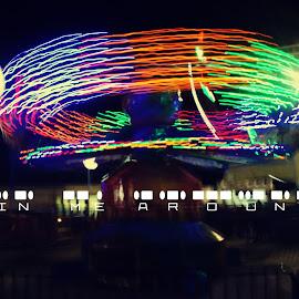 Spin me around by Allen Villaflor - Digital Art Places ( lights, alingjoy, park, digital art, street, spin, long exposure, spin me around, light )