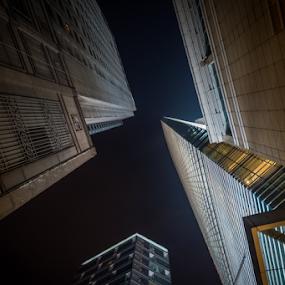 Vertigo by Mahdi Hussainmiya - Buildings & Architecture Architectural Detail ( vertical, leading lines, height, skyscraper, vertigo, vertical lines, pwc )