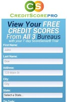 Screenshot of Credit Score Pro Free Reports