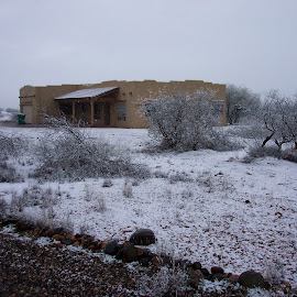 Home by Brian Carlson - Landscapes Deserts ( home, arizona, snow, cornville, house )