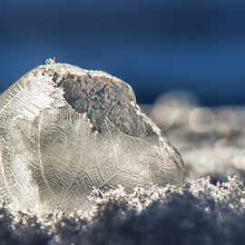 Iridescence by Pat Eisenberger - Artistic Objects Other Objects ( bubble, winter, cold, iridescent, ice, snow, cracked, frozen, iridescence )