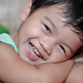 Happy Budee! by Ruel Ambat - Babies & Children Toddlers ( no worry, joyful, happy, baby, smile )