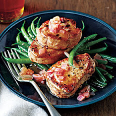 Pork Medallions with Whisky-Cumberland Sauce and Haricots Verts