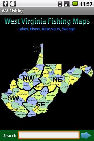 West Virginia Fishing Maps 9K