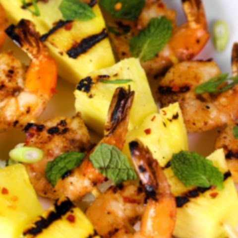 Grilled Spicy Shrimp and Pineapple Skewers Recipe | Yummly
