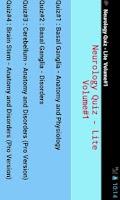 Screenshot of Neurology Quiz Volume#1 Lite
