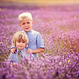 George & Ollie in the Lavender by Chinchilla  Photography - Babies & Children Child Portraits