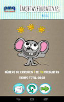 Screenshot of Tarjetas educativas en español