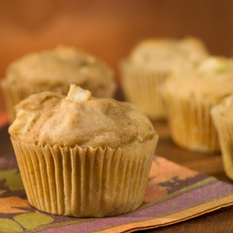 Morning Peanut Butter & Apple Muffins