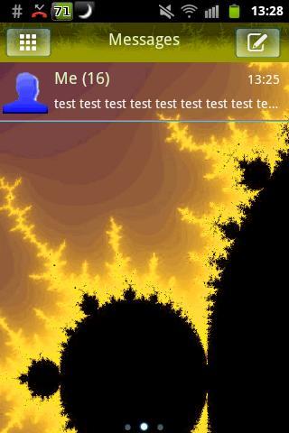 GO SMS Theme Fractal Yellow