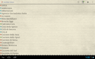 Screenshot of Quotidiani Italiani