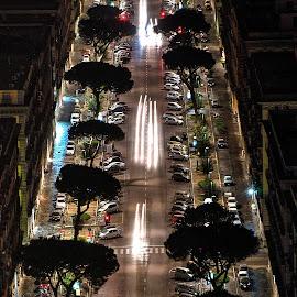 by Alessandro Minervini - City,  Street & Park  Street Scenes ( naples, via, italia, alessandro, minervini, street, napoli, night, italy )