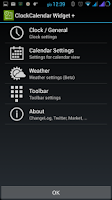 Screenshot of Clock Calendar Widget +
