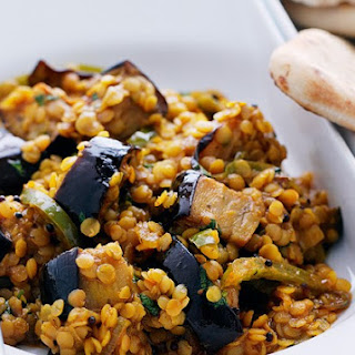 Aubergine And Red Lentil Curry