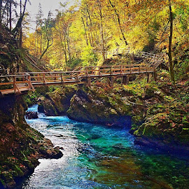 Vintgar gorge by T K - Instagram & Mobile iPhone ( bled, gorenjska, slovenia, igers, igslovenia, ig_balkan, ig_europe, all_shots, bridge, bestoftheday, gorge, colorful, euro_shot, fabshots, globaldaily, igglobalclub, instanaturefriends_, landscapelovers, magicpict, mothernature, mycapture, nature, naturelovers, outdoors, photooftheday, urban_nature )