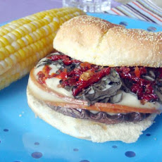 Smoky Portabella Burger With Sun-Dried Tomatoes and Basil