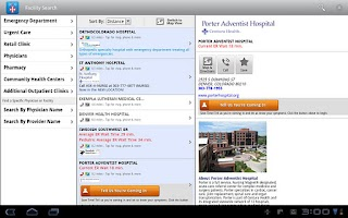 Screenshot of iTriage Mobile Health (Tablet)