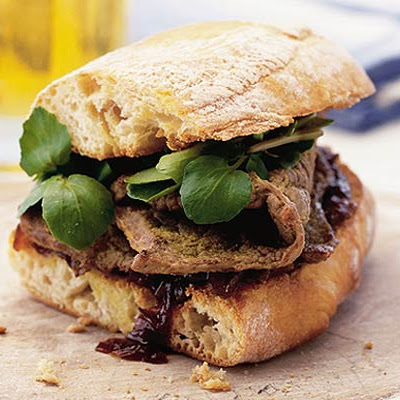 Steak & Caramelised Onion Sandwich